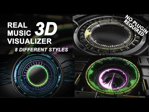 Real 3D Music Visualizer  After Effects template
