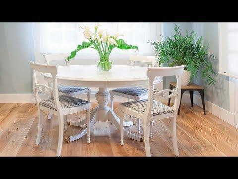 Cómo pintar una mesa de comedor de madera en blanco - Decogarden ...