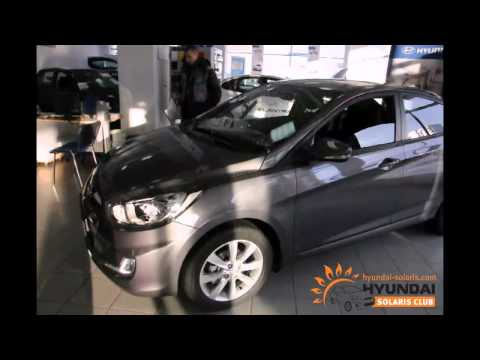 Hyundai Solaris цвета cерый металлик (SAE)