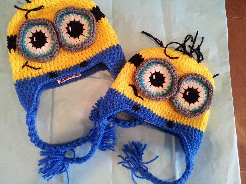 Tutorial How to crochet 9-12 month old Minion Beanie. By Sabrina ...