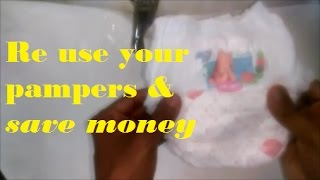 Reuse your pampers & save money