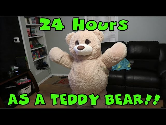 Giant Teddy Bear For 24 Hours! Someone is Hacking Us!