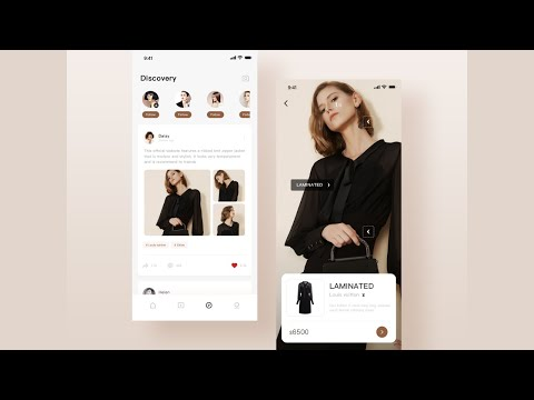 Flutter UI - Fashion designs