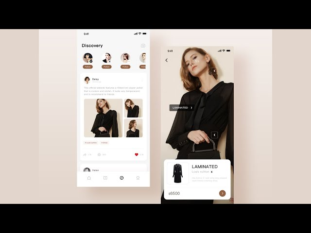 Flutter UI - Fashion designs