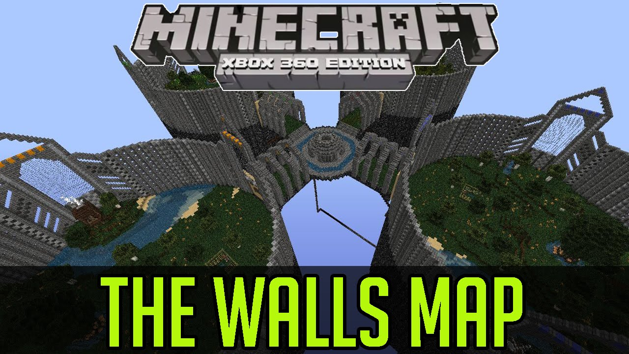 Minecraft Xbox 360/One: THE WALLS (Extended) map Download - YouTube