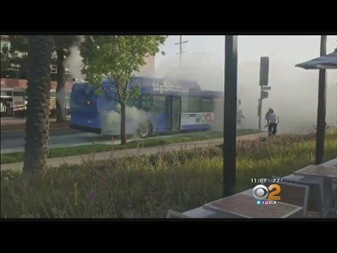 Fire Extinguisher Goes Off On Big Blue Bus