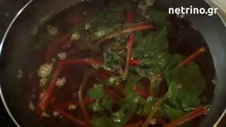 Βραστά φύλλα από παντζάρια - Εύκολη συνταγή για σαλάτα