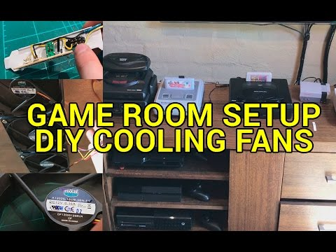 Game Room Setup & DIY Media Cabinet Cooling Fan Installation - YouTube