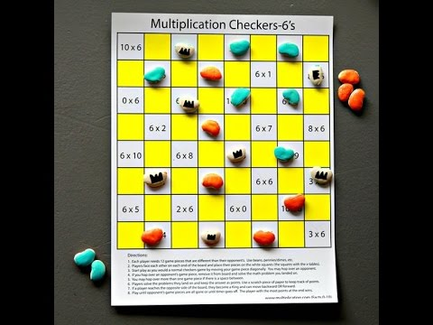 picture about Printable Checkers Board identify Multiplication Checkers for Moments Desk Mastery
