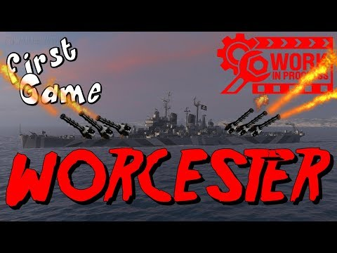 WORCESTER  the US HE-MACHINEGUN || World of Warships