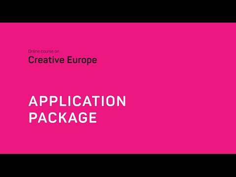 Creative Europe: application package with Yvelin Karu-Veskioja