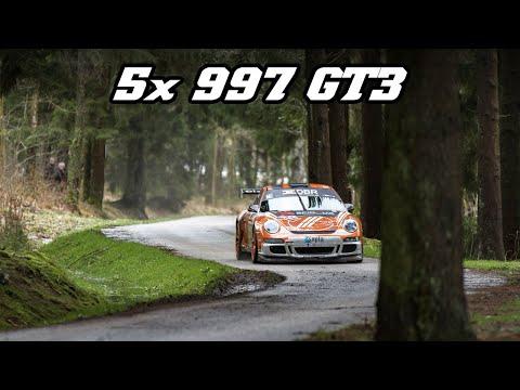 5x Porsche 997 GT3 Rally - INSANELY LOUD (Spa Rally 2019)
