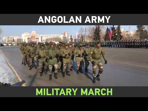 Unusual gift for Defender of the Fatherland Day: Angolan army's military march