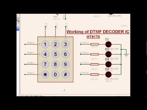 Microcontroller interface to Matrix keypad and the DTMF decoder
