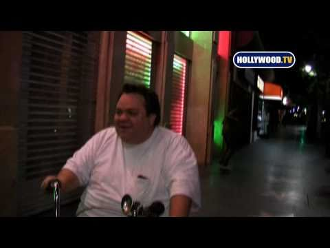Preston Lacy riding his bicycle in Hollywood Blvd.