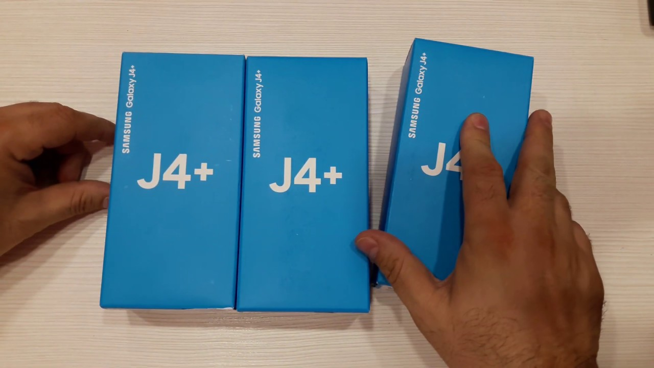 Samsung Galaxy J4+ Unboxing (Limited Edition) Gold Pink Black - Samsung J4+  Recenzija