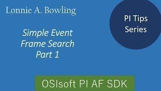 بي نصيحة #2 الحدث إطارات البحث مع AF SDK - الجزء #1