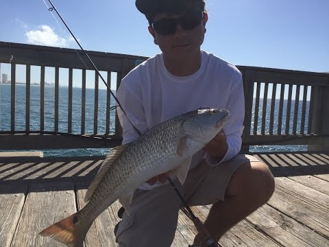 Redfishing At Russell-Fields Pier