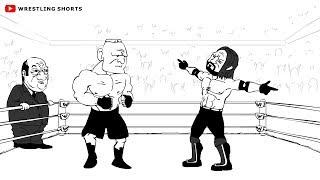 Brock Lesnar vs AJ Styles Sobreviviente de la Serie de dibujos animados de la Parodia