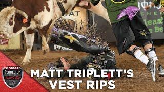 Bull Rips Matt Triplett's Vest During Denver Chute Out | 2020