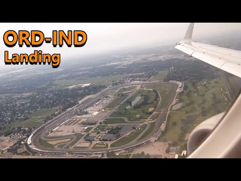American Eagle ERJ-175 landing at Indianapolis International Airport