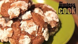 Choco-mint Snowcap Cookies - Christmas Baking