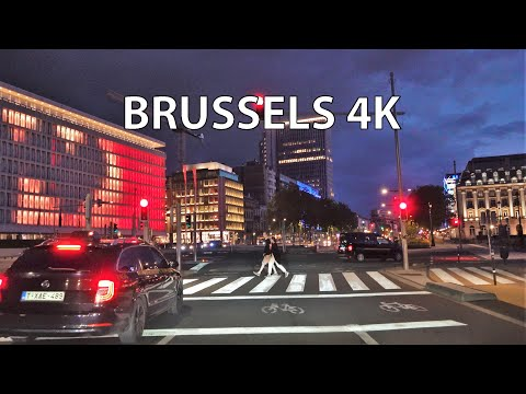 Brussels 4K - Driving Downtown - Europe's Washington DC