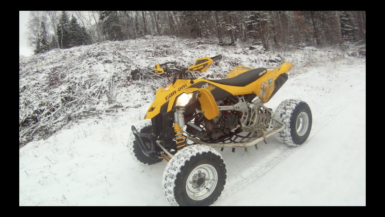 can am ds 450 ride winter edition youtube. Black Bedroom Furniture Sets. Home Design Ideas