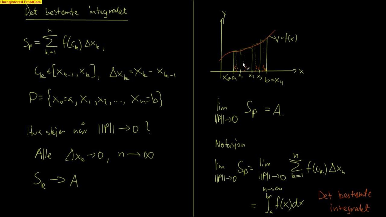 Kalkulus 5.3 - Det bestemte integralet