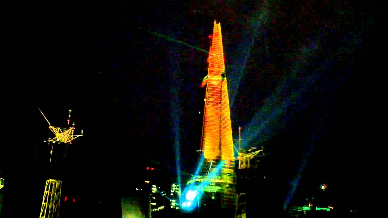 The Shard London Laser Show