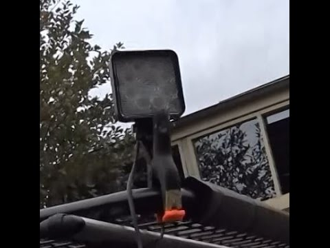 The Making Of My Camping Gear 5 Or 4WD LED Work Light On A Strong Clamp 12 Volt DIY O