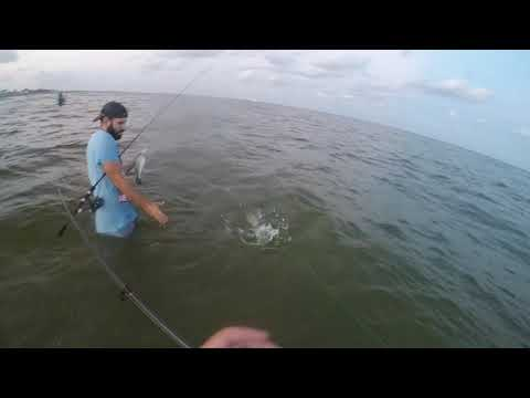 Surf Fishing Speckled Trout (Grand Isle LA)