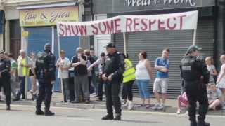 Orange Order The Belfast 12th 2013 passing Carrickhill and St Patricks Chapel part 1