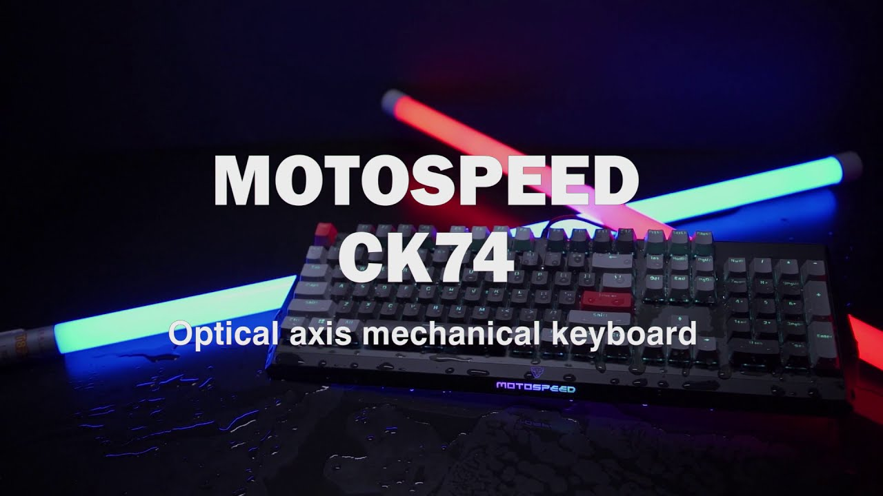 MOTOSPEED CK74 Monochrome Optical Axis Mechanical Keyboard... COMING SOON -  YouTube