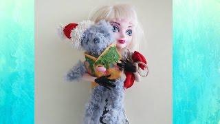 Как сшить мягкую игрушку для куклы. Новогодний плюшевый мишка(Мастер класс как сшить мягкую игрушку подарок на Новый год . Необходимые материалы: ткань с ворсом, красный..., 2016-12-07T17:30:00.000Z)