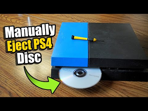 How to Manually Eject PS4 Disc that is stuck! (Games & Movies)