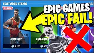 FORTNITE ITEM SHOP - EPIC FAIL!!! HALLOWEEN SKINS? NO! NBA SKINS...