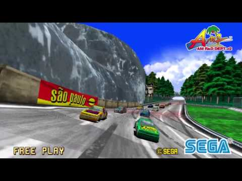 Sega Racing Classic - Attract mode