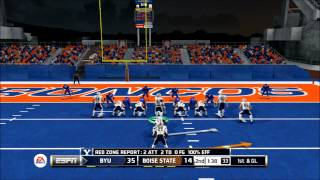 BLUE FIELD OF DEATH - NCAA 14 - Fievel Pin: Road to Glory - BYU vs. Boise State