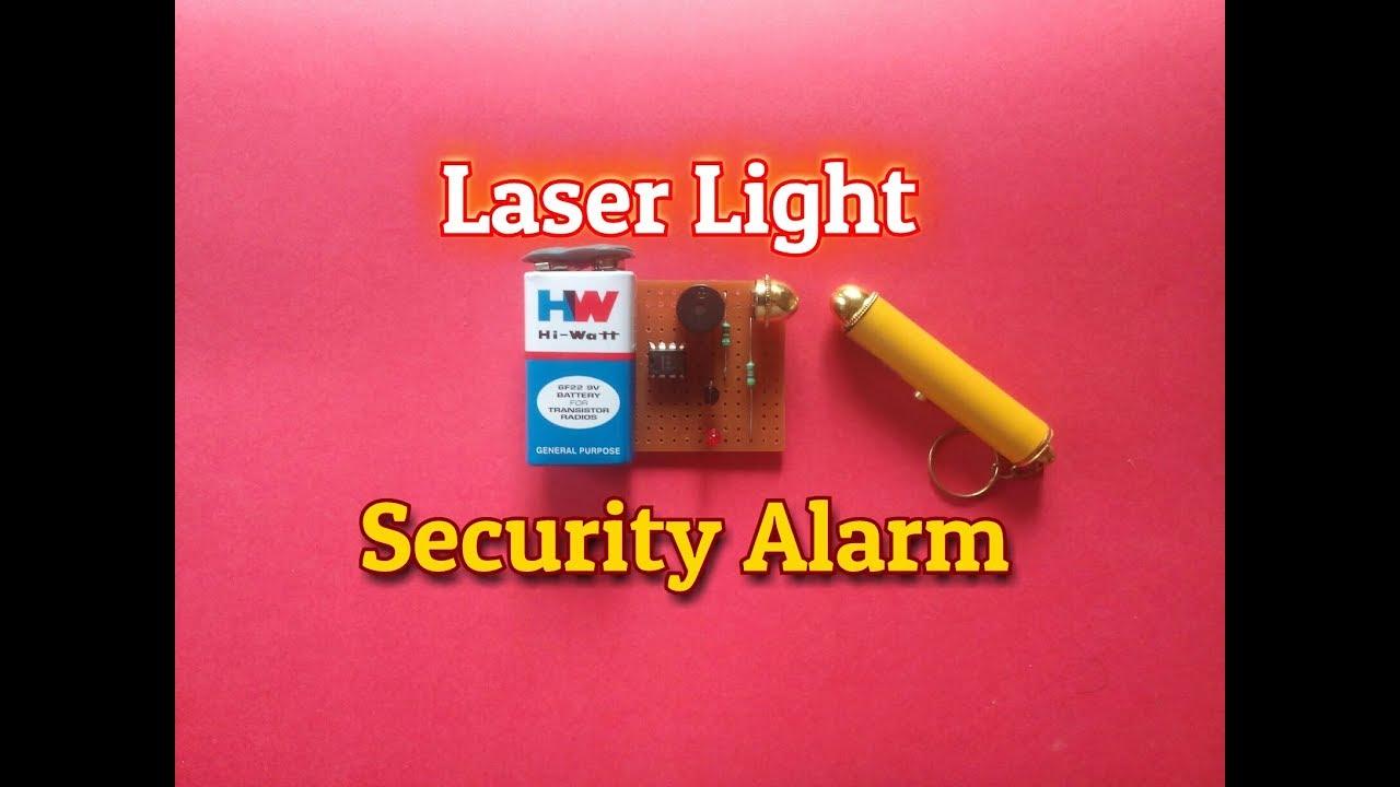 Laser Security Alarm System How To Make A Laser Light Security Alarm