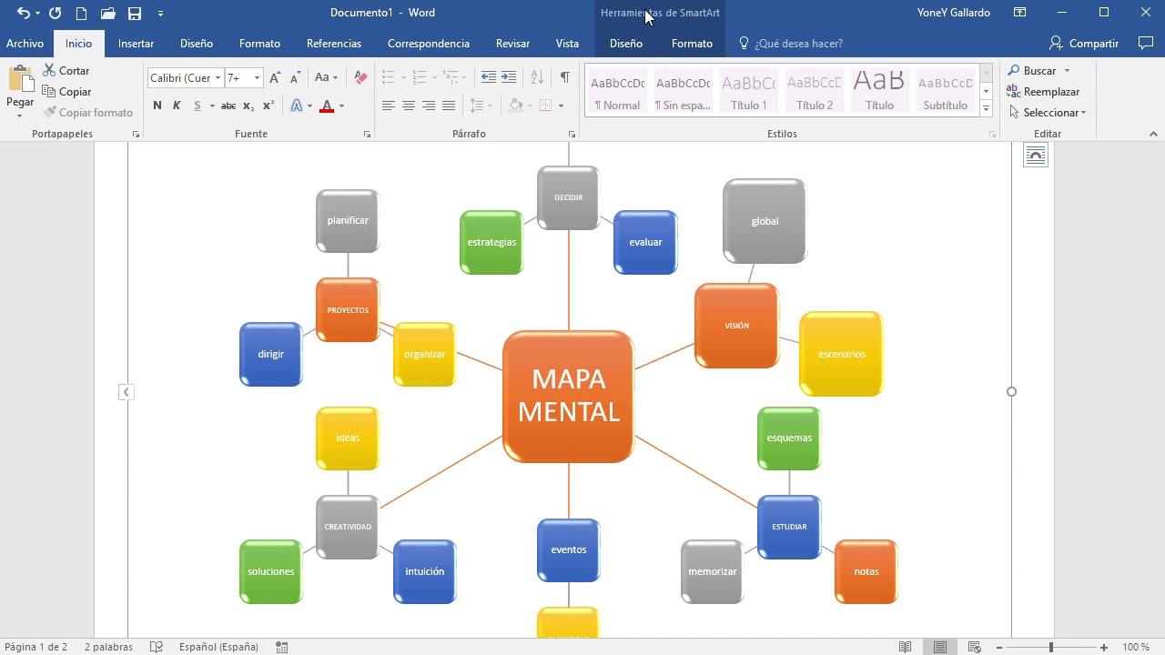 C mo hacer un mapa mental en word doovi for Como crear un plano