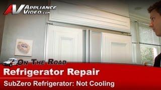 SubZero Refrigerator Evaporator Repair & Replacement - Not cooling defrosting Model 590