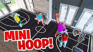 House 2 Vs 2 Mini Hoop Basketball *Broken Court*