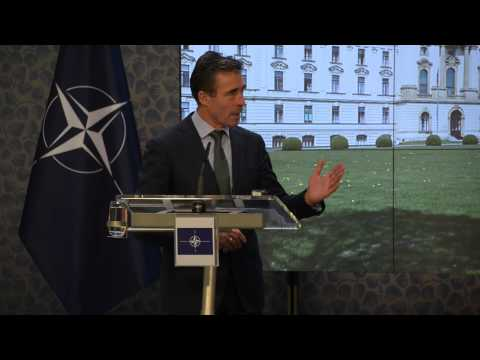 NATO Secretary General with Prime Minister of Czech Republic - Joint press point