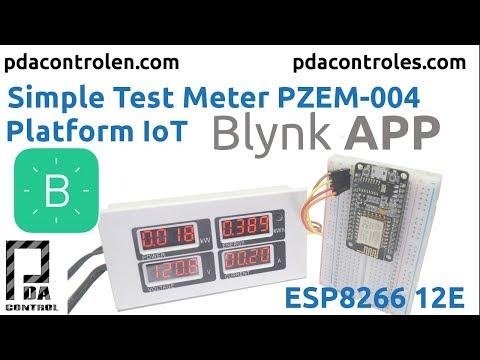 Meter PZEM-004 + ESP8266 & Platform IoT Blynk App - PDAControl
