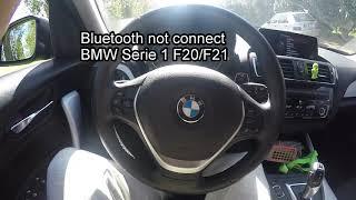Bluetooth Not Connect BMW Serie 1 F20 F21