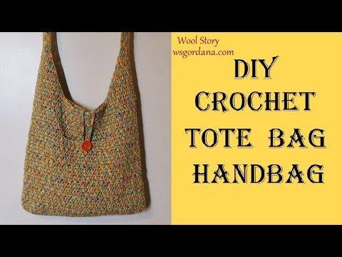 DIY How to Crochet a Tote Bag or Handbag (Heklana torba)