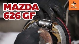 Hoe een achter remcilinder vervangen op een Mazda 626 GF HANDLEIDING | AUTODOC