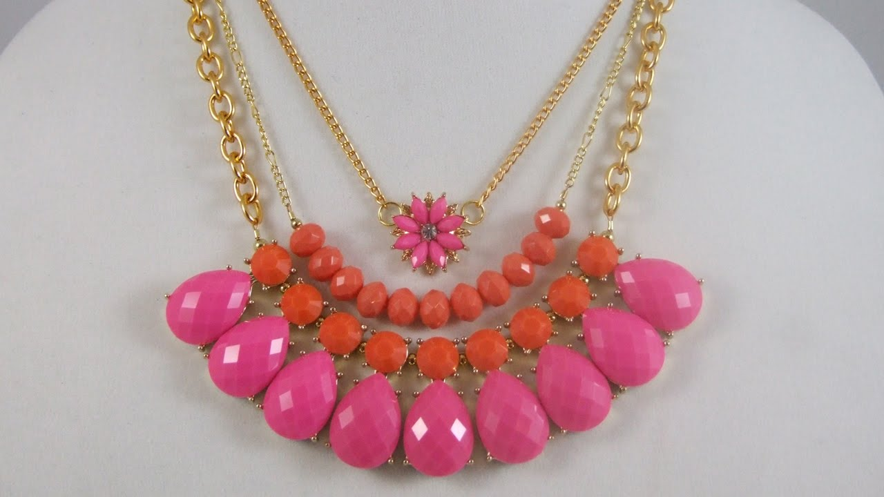 How to Make Quick & Easy Layered Statement Necklaces - Short ...