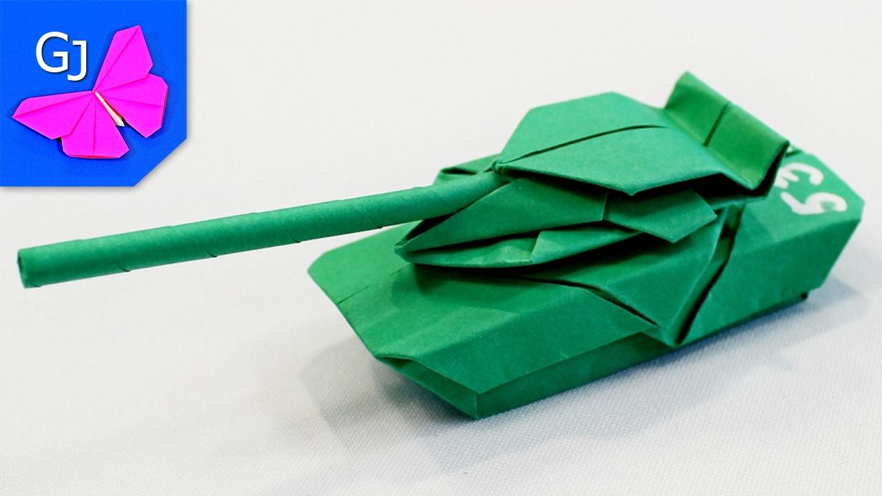 Сделать оригами танков из бумаги 169
